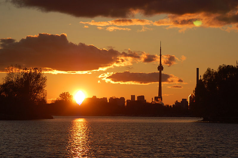 Sunset at Ashbridge's Bay in Toronto